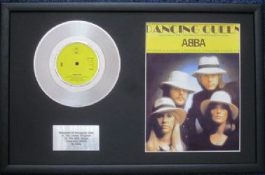 "ABBA - 7"" Platinum Disc & Song Sheet - DANCING QUEEN"